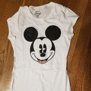 Disney mickey face t shirt